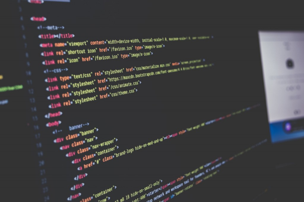 HTML coding uses a series of tags throughout the code to distinguish headers, paragraphs, lists, and more.