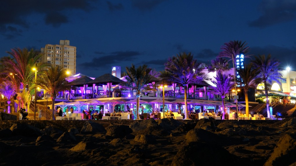 Al fresco dining under the neon lights on Miami Beach is a must!